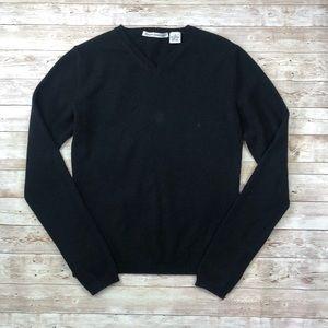 Autumn Cashmere V-neck Sweater Black Small 100%